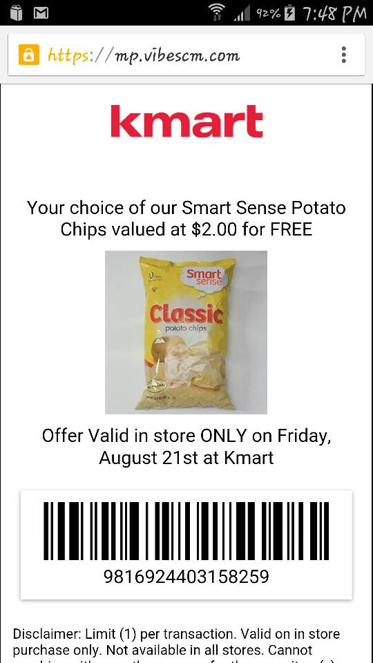 Kmart ~ FREE Bag of Smart Sense Potato Chips!! | valuablesavings