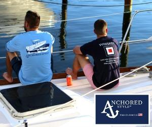Anchored Style sailboat Whiskey Angler300x250